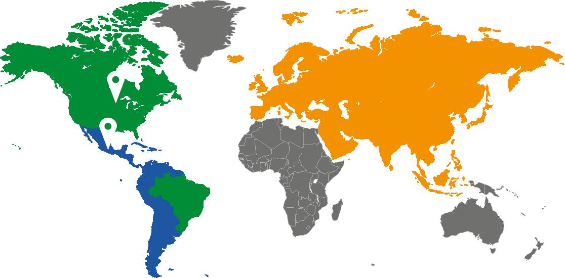 Defender Mundo Mapa Sucursales